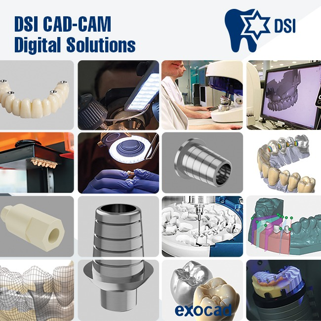 DSI Digital Dentistry CAD/CAM Solutions Parts and Library