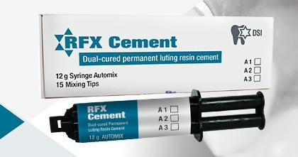 DSI RFX Dental Radiopaque Automix Resin Cement For Crown & Bridge